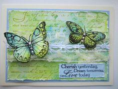 hero arts butterfly card