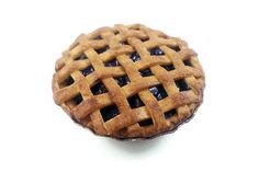 Realistic miniature polymer clay blueberry pie magnet by Kymirascreations
