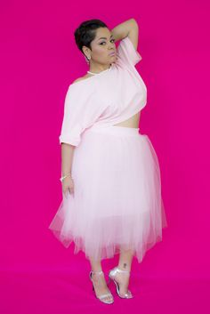 Pretty in Pink TuTu from Zelie for She- The Curvy Fashionista