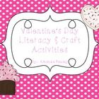This literacy and craft activities pack includes the following:  ~Heart wreath craft ~Valentine Butterfly craft with writing prompt ~Valentine's Da...