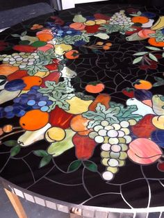 Fruit Table -by, Touch of Glass Mosaics