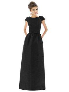 Alfred Sung D569 Long Cap Sleeve Pockets http://www.dessy.com/dresses/bridesmaid/d569/