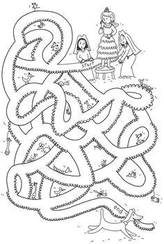princess maze worksheet