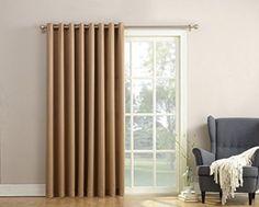 Patio Door Curtain Panel 100 X 84 Inch Taupe Extra Wide Energy Efficient  Grommet