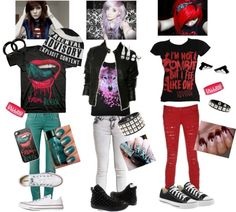 """Falling In Reverse"" by i-walk-alone-94 ❤ liked on Polyvore Probably wouldn't wear this but I love Falling In Reverse!!"