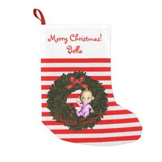 Baby Girl's 1st Christmas Small Christmas Stocking