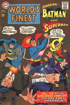 World's Finest Comics #168. Curt Swan:  the consummate Superman artist---loved this series of Batman--Superman adventures