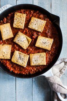 Tofu Red Lentil Shakshuka