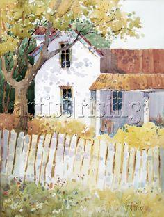 Kansas Charm by Joyce Hicks Watercolor at ArtistRising.com