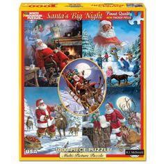 350 x 2 Interlocking Pieces Hallmark Santa Before//After Springbok Multi-Puzzle All-In a Nights Work!