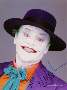 Jack Nickelson as the Jocker in Batman Forever