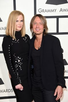 Nicole Kidman and Keith Urban in The 57th Annual Grammy Awards (2015) - LOVE the Straight-line of Grommets down her Sleeves!!~
