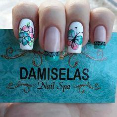 Butterfly Nail, Chic Nails, Nail Decorations, Nail Spa, Pink Nails, Nail Art Designs, Manicure, Triangles, Holi