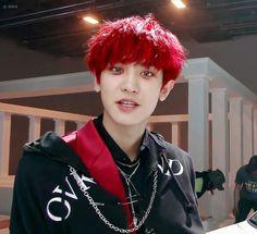 Chanyeol red hair