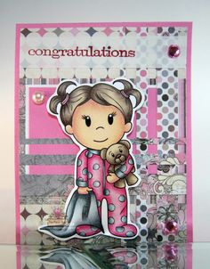 Baby Emma for the Paper Nest Dolls, February 2016, created by Leah Tees, odetopaper.blogspot.ca