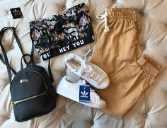 Teen Fashion Outfits, Hippie Outfits, Sporty Outfits, Outfits For Teens, Cute Comfy Outfits, Cool Outfits, Tumblr Outfits, Adidas Outfit, Beautiful Outfits