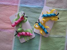 Butterfly Ribbon Art Hair Clips