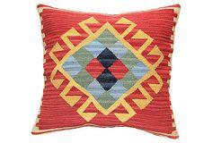 "24"" x 24"" Kilim Pillow, Red  $99.00"