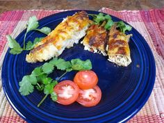 Here's a great low-calorie version of a Mexican Favorite - Chicken Enchiladas!
