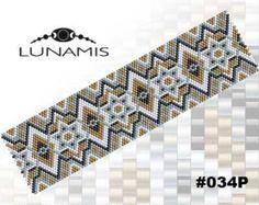 Peyote bracelet pattern peyote pattern por LunamisBeadsPatterns