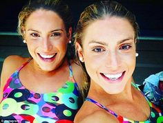 The sisters have a joint Instagram account where they post a series of revealing selfies...
