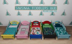 SimSima Toddlers Bed (S3 to S4) at Dream Team Sims • Sims 4 Updates