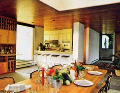 Relaxing Kitchen 1970's style HB. Love bit of 70's style, this Scandinavian style still looks modern