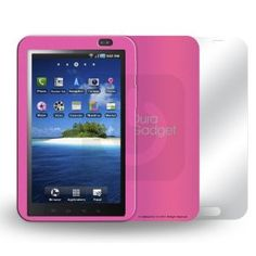 DURAGADGET Moulded PINK siliconee Case For Samsung Galaxy TAB (P1000) (INCLUDE SCREEN PROTECTOR BONUS)