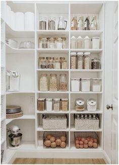 Diy Kitchen Storage, Pantry Storage, Pantry Organization, Kitchen Pantry, Diy Storage, Storage Hacks, Pantry Ideas, Tiny Pantry, Organized Kitchen