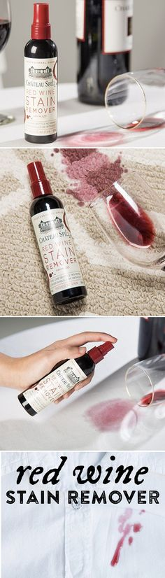 Wondering how to remove red wine stains? Try this. Red Wine Stain Remover.