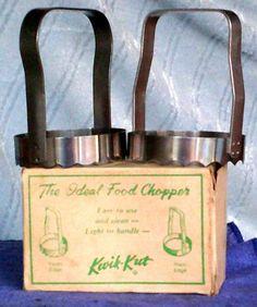 Vintage Kwik-Kut Food Chopper Exc. Condition w/ Original Box