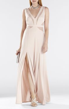 Sleeveless V-Neck Dress ALSO ON RENT THE RUNWAY