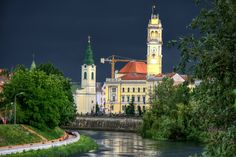 Oradea before storm San Francisco Ferry, Romania, Landscape, Country, City, Building, Places, Travel, Beautiful