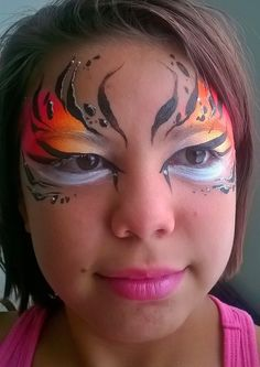 Face Painting Designs, Paint Designs, Tiger Makeup, Bling, Make Up, Jewel