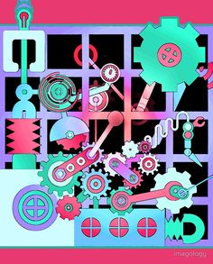 'Cogs and Wheels' Graphic T-Shirt by imagology Cogs, Wheels, Shirts, Dress Shirts, Shirt