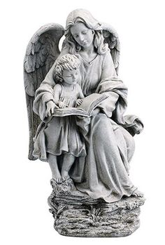 Guardian Angel With Child Garden Statue