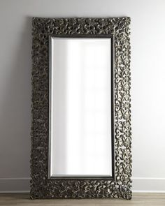 I love this mirror :-) -Burnished Charcoal Floor Mirror at Horchow.
