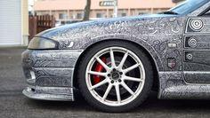 Nissan Skyline GT-R with Sharpie artwork