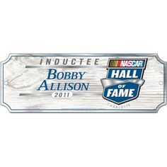 """NASCAR Bobby Allison 6-by-17 Inch Wood Sign by WinCraft. $10.35. Hardboard wood signs are 1/4"""" thick, decorated with quality graphics to resemble an antique wood finish. A matte finish laminate top is added for greater durability and a precision cut smooth edge makes this a great indoor decor sign. Made in USA. Save 42%!"""