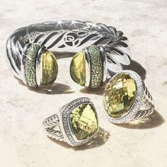 David Yurman jewelry with lemon citrine.
