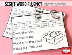 Students practice these sight word fluency flashcards during centers and any free time. They each include a sight word story for the target word plus a review of previous words. The picture supports help kindergarten, first grade, and second grade students use them independently, focusing on the target sight words. Assessment sheets included to keep track of progress. For Fry and Dolch sight words. #tejedastots
