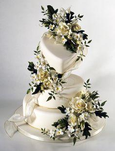 Sugar Flower Wedding Cake from Alan Dunn