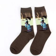 4Pairs World Famous Painting Art Collection Socks Vincent Van Gogh Starry Night