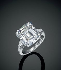A 10.15 carats rectangular-cut diamond ring, by Graff