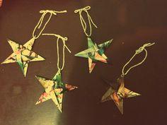 Christmas decorations! Handmade magazine origami by Lady EcoCraft
