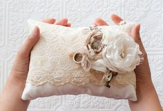 Shabby Chic pillow for rings