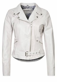 Jofama - RETRO - Leather jacket - white