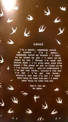 Twenty One Pilots - Goner. This is one of those songs that has a special place in my soul that can't be filled by any other. I love this song.