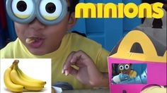 This lil Minion went to the Movies! Fart Gun and BANANAS at McD's!!!