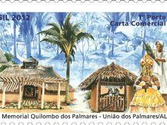 selo brasileiro sobre Quilombo dos Palmares
